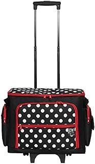 Prym 612630 - Carrito para máquina de coser, diseño de lunares, color negro/rojo/blanco