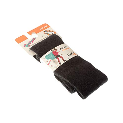 Lauve Collant Caldo - 1 Paio - Tinta Unita Semplice - Ultra-Opaca - Tassello Poliammide - Acrylique - Noir - 10/12 Ans