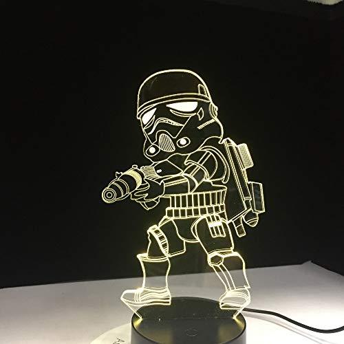 Darth Vader Karton Figur Star War Senser Stimmung Nachtlicht 3D LED Tischlampe Kinder Geburtstagsgeschenk Nachtzimmer Dekoration