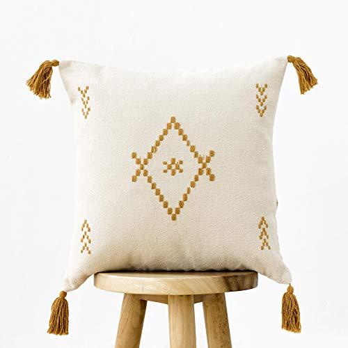 Kenay Home - Cojín Decorativo Sofá Cama Mostaza Damya 45x45cm