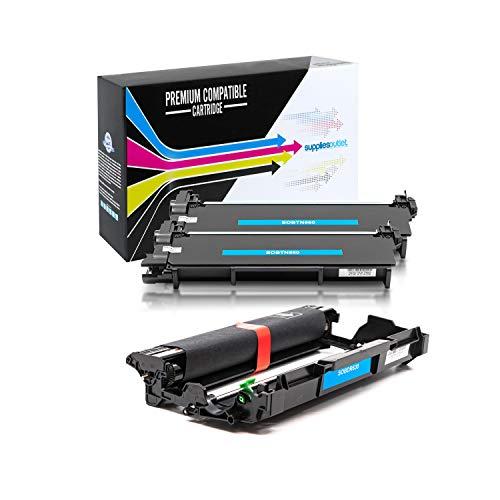 SuppliesOutlet Compatible Toner Cartridge and Drum Unit Set for Brother TN660 / TN-660 / DR630 / DR-630 (2 Toner,1 Drum)