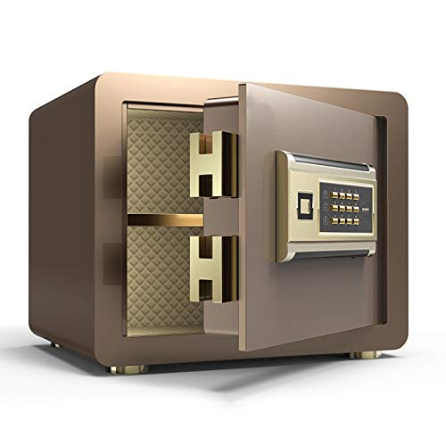 ZLSANVD Safe Electronic Safe Box for Home Office Security Steel Construction with Electronic Keypad Lock for Jewelry Cash Storage (Color : Gold)