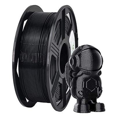 YOYI ABS Plus 3D Printer Filament, ABS Filament 1.75mm 1kg Spool (2.2lbs), Dimensional Accuracy of +/- 0.02mm (Black)