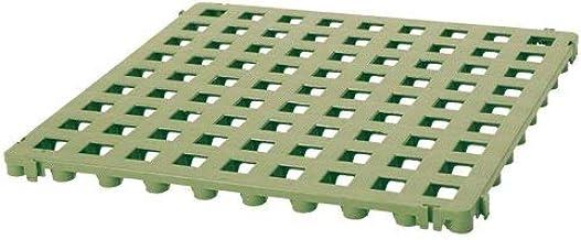 Suelo de plástico de rejilla verde: Amazon.es: Jardín