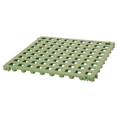 Suelo de plástico de rejilla verde