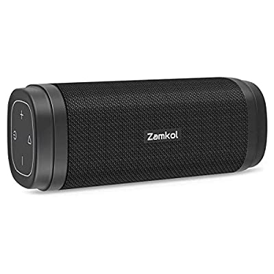 Zamkol Bluetooth Speaker, 30W Portable Wireless Speakers with 20-Hour Playtime, TWS, Stereo Sound, Bluetooth 5.0 IPX6 Waterproof Speaker with Built-in Microphone from Zamkol
