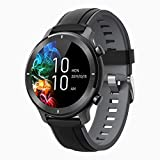 Smart Watch for Android iOS Phone Fitness Tracker Waterproof IP68 Blutooth Round SmartWatch with Text Call Notification Monitor Sleep Blood Pressure Heart Rate Outdoor Sports Watch for Women Men