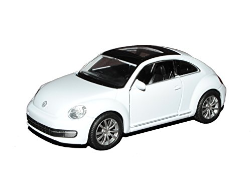 Welly Volkwagen Beetle New Coupe Ab 2011 Weiss ca 1/43 1/36-1/46 Modell Auto