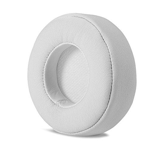 Liyong Almohadillas para Los Oídos, Almohadillas De Repuesto De Cuero para Auriculares(Blanco)