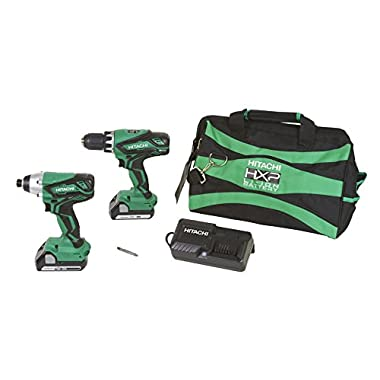 Hitachi KC18DGL 18-Volt Cordless Lithium Ion Driver Drill and Impact Driver Combo Kit (Lifetime Tool Warranty) (Discontinued by the Manufacturer)