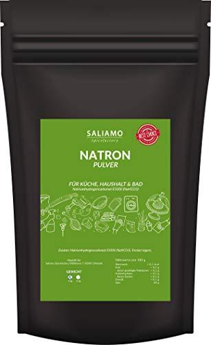 Saliamo Natron Pulver - Natriumhydrogencarbonat - Backpulver - Backsoda - in einer 1 KG Packung erhältlich - Lebensmittelqualität E500ii NaHCO3