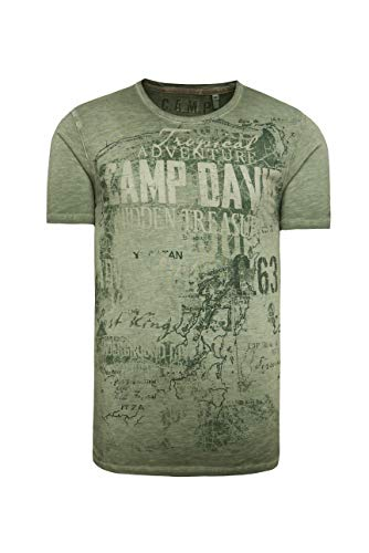 Camp David Herren T-Shirt mit Watercolour Print