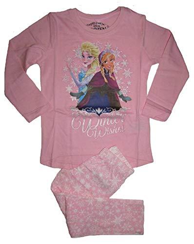 Frozen - Die Eiskönigin Langarmshirt und Hose Set Mädchen Leggings Langarm Shirt Anna & ELSA (122/128, rosa)