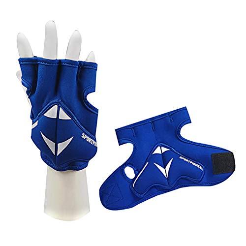 MOVKZACV Guantes de boxeo con peso de 2 kg (1 Ibs cada uno) con capa de hierro suave y soporte de muñeca, guantes de peso para hombres o mujeres, boxeo, taekwondo, entrenamiento de pesas