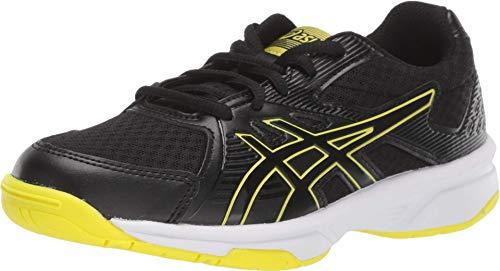ASICS Kid's Upcourt 3 GS Court Shoes, 4.5M, Black/Sour Yuzu