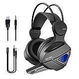 Gaming Headset New Bee 3D Surround Sound Spielkopfhörer mit großem 50mm Treiber, kräftigem Bass,...
