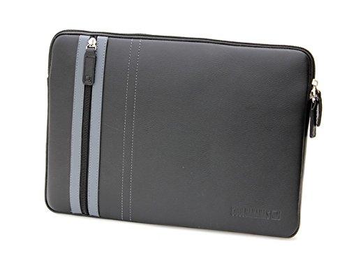 COOL BANANAS SmartGuy Sleeve | Tasche für Apple MacBook Pro 15 Zoll | Hülle aus echtem Rindsleder | hochwertig verarbeitet für Business und Privat | Case in Farbe (MacBook Pro 15, Schwarz)