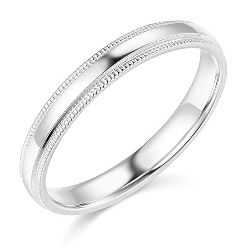 Wellingsale Ladies 14k Yellow White Gold Solid 3mm COMFORT FIT Wedding Band Ring OR