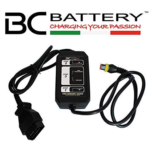 BC OBD Memory Saver - Dispositif sauvegarde de mémoire pour le remplacement des batteries voiture pour la connexion à la prise OBD (présent sur tous les voitures) - Made in Italy