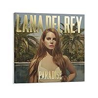 Lana Del Reyラナ・デル・レイ4 印刷 ポスター キャンバス ウォールアート 画像 絵画 現代 芸術 壁の絵 け ソファの背景絵画24×24inch(60×60cm)