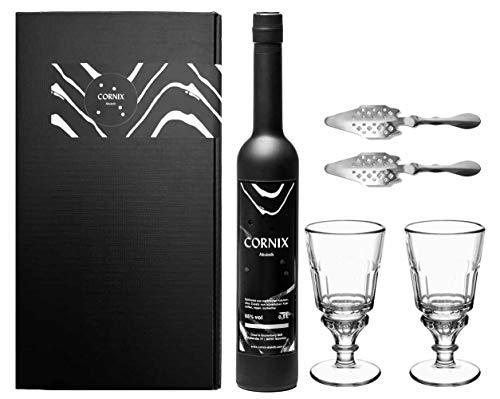 Cornix Absinth Geschenk Set mit original französischen Absinth Gläsern und Absinth Löffeln