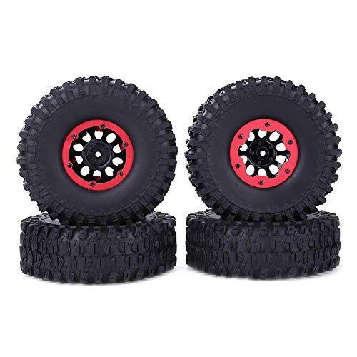 The queen of quality Láminas de goma del borde de la rueda de la rueda de 1.9 pulgadas de 4 unids para 1/10 RC CAR 120 / 42mm Bomba de inflador Neumático de goma neumático para piezas de automóviles R