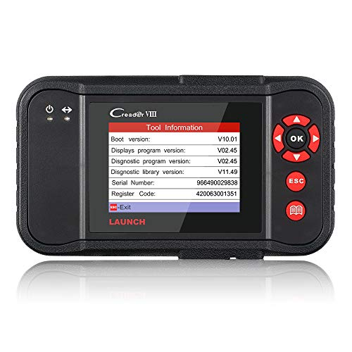 LAUNCH Creader VIII (CRP129) OBD2 Scanner ENG/at/ABS/SRS Brake/Oil/SAS Reset Code Reader for OBD2 Vehicles OBDII Car OBD2 Scanner Diagnostic Scan Tool