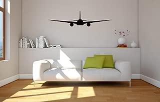 Boeing 777 Airplane Silhouette Vinyl Wall Decal Sticker
