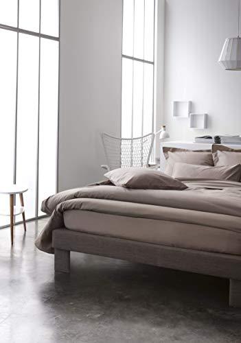 Today Housse de Couette 100% Coton 57 Fils, Mastic, 140 x 200 cm