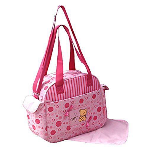 GMMH Lot de 2 Sac à Langer bébé rose, Sac, Sac de voyage pour bébé, Allaitement, Choix de Couleurs