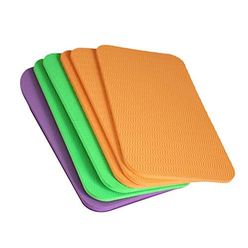 ABOOFAN 6 piezas práctico cojín de asiento de yoga cojín de rodilla espesa cojín de asiento sentado de rodillas cojín para deportes al aire libre uso diario (color al azar, 39 x 21 x 0, 6 cm)