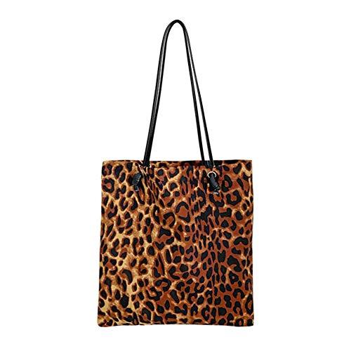 Fashion Leopard Print Women Handbag Animal Pattern Retro Female Travel Casual Shoulder Top-handle Bag Shopping Totes