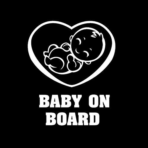 Moda coche auto vehículo bebé a bordo seguridad vinilo sig