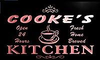 LED看板 ネオンプレート サイン 電飾 看板 カフェ バー pc1996-r Cooke's Home Kitchen Open Bar Neon Beer Sign