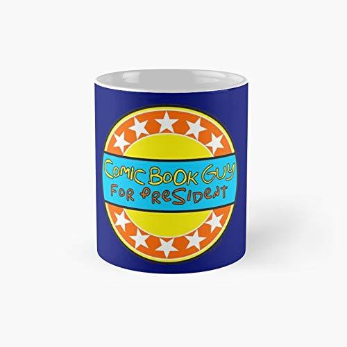 Tazas de café divertidas, diseño de libro de cómic para el presidente, 11 onzas