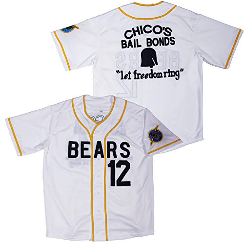 Kooy Tanner Boyle #12 Bad News Bears Movie 1976 Chico's Bail Bonds Baseball Jersey (Large), White