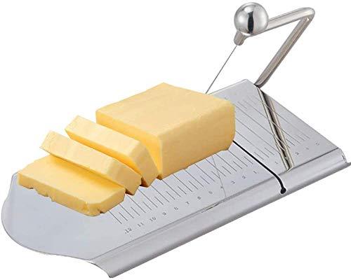 Cortadora de alambre de queso de acero inoxidable 25 * 13 Tabla de cortar masa de mantequilla con calibración de talla 12 + 5cm