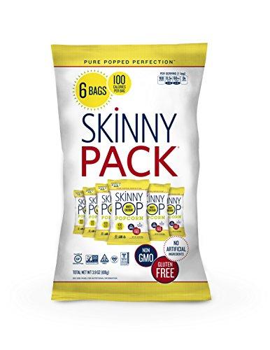 Skinny Pop - Popcorn tutto il formaggio cheddar Skinny naturale di bianco del pacchetto - 6Borse