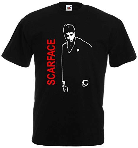 Al Pacino Scarface Tony Montana T-Shirt Herren Kult Shirt Schwarz-L