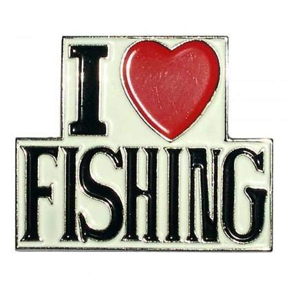 Ich liebe Angeln, Fishermans Metal Emaille Lapel Anstecknadel