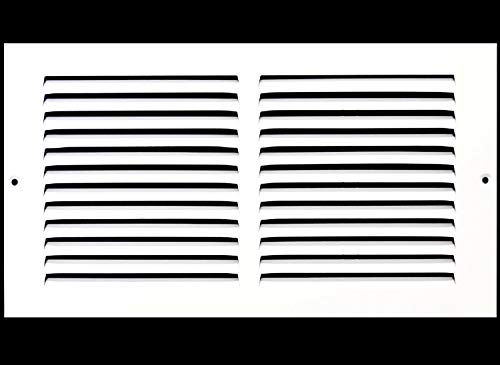 12'w X 4'h Steel Return Air Grilles - Sidewall and Ceiling - HVAC Duct Cover - White [Outer Dimensions: 13.75'w X 5.75'h]