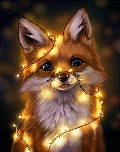 SHJDY 5D Diamantschildere-zoete hond kroonluchter ronde diamant, vierkant canvas. DIY, Brainpower ontwikkelen. Hoofddecoratie. Kindergeschenk 60x80cm