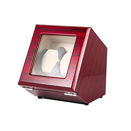 ZFF Doble Automático Cajas Giratorias for Relojes Caja, Watch Winder - Hecho a Mano (Color : Red)
