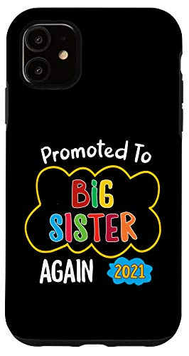 iPhone 11 Promoted To Big Sister again 2021 Pregnancy Announcement Mat Case