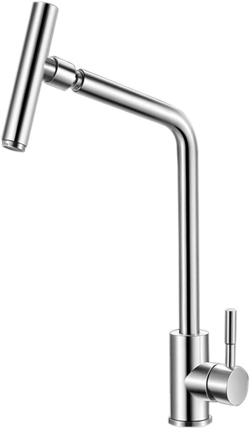 Faucet All-Round redating Kitchen Faucet hot and Cold Sink Stainless Steel hot and Cold redatable Faucet