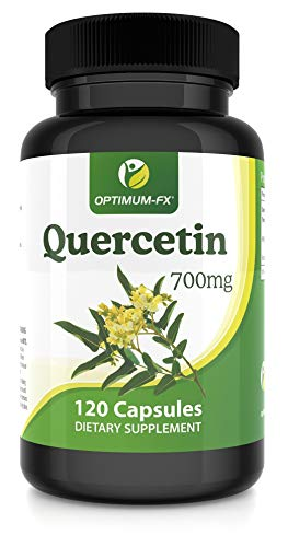 Quercetin 700mg Capsules Not Tablets High Strength Naturally High in Bioflavenoids – 120 Capsules