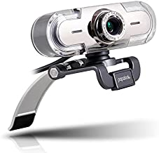 Webcam 1080P, PAPALOOK PA452 Web Camera Full HD Video Stream, Manual Focus and 65° Viewing Angle, Built-in Microphone for PC/Laptop/Desktop, Works with Skype, YouTube, Twitch