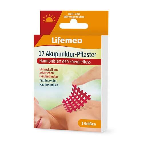 Lifemed - 17 Akupunktur-Pflaster rot, 3 Größen - harmonisiert den Energiefluss, 2er Pack (2 x 1 Stück)
