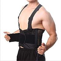 男性用通気性姿勢補正痛みベルトバックコルセットバックサポートブレースショルダーストラップランバーサポートベルト