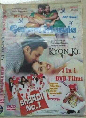 Review New Super Hit Hindi/English Movie Video 9 Set CD/DVD from India
